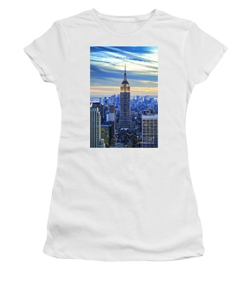 Empire State Building New York City Usa Women's T-Shirt (Athletic Fit)
