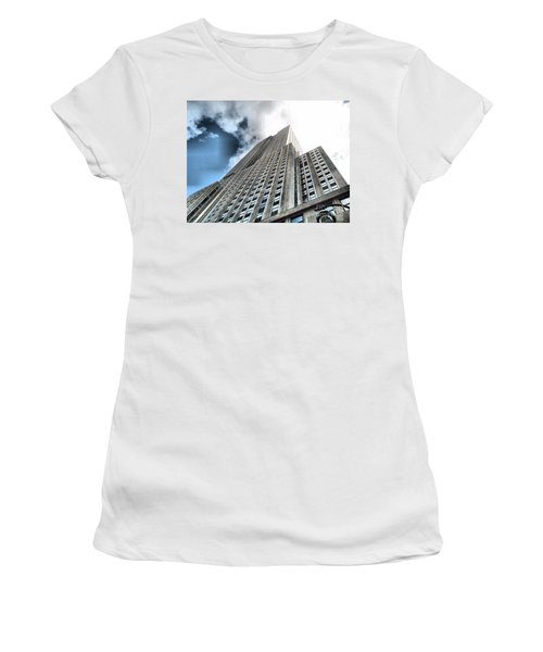 Empire State Building - Vertigo In Reverse Women's T-Shirt (Athletic Fit)