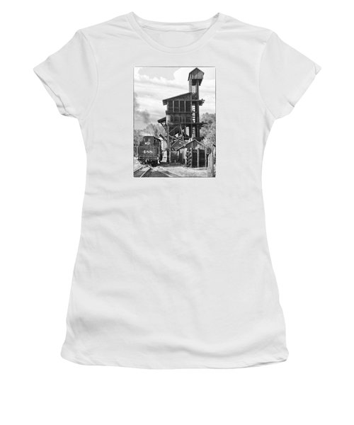 Engine 488 At The Tipple Women's T-Shirt (Junior Cut) by Shelly Gunderson