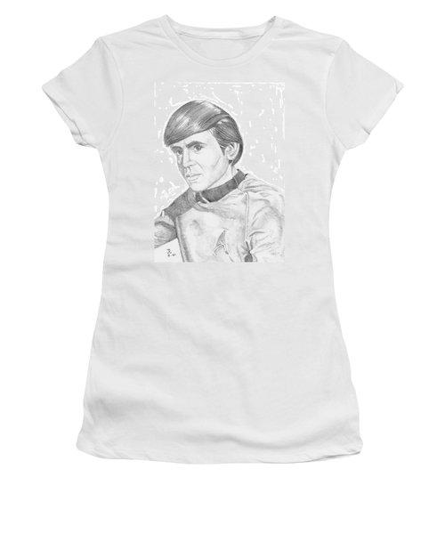 Women's T-Shirt (Junior Cut) featuring the drawing Ensign Pavel Chekov by Thomas J Herring