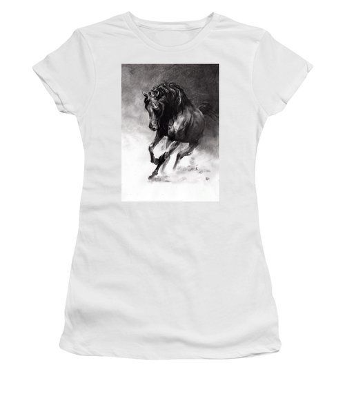 Equine Women's T-Shirt (Junior Cut) by Paul Davenport