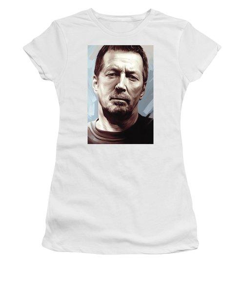 Eric Clapton Artwork Women's T-Shirt (Athletic Fit)