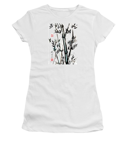 Women's T-Shirt (Junior Cut) featuring the painting Essence Of Strength by Bill Searle