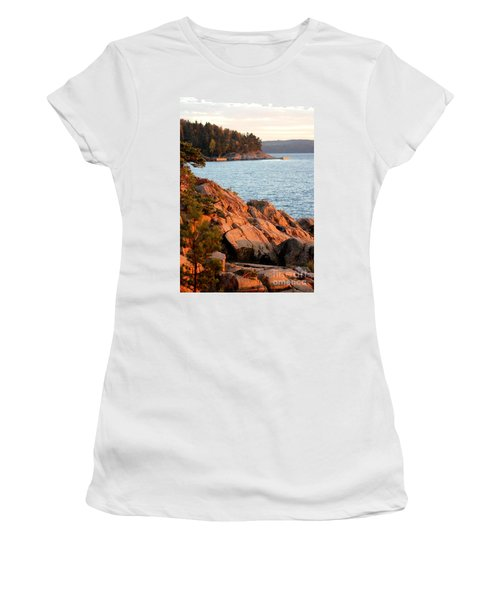 Evening Sun By The Waterfront Women's T-Shirt (Athletic Fit)