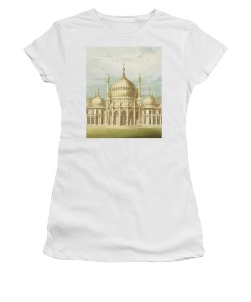 Exterior Of The Saloon From Views Of The Royal Pavilion Women's T-Shirt