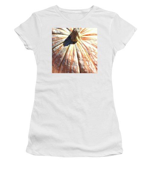 Women's T-Shirt (Junior Cut) featuring the photograph Fairy Tale Pumpkin by Denyse Duhaime