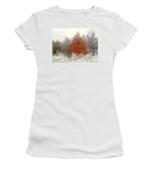 Fall And Winter Women's T-Shirt (Athletic Fit)