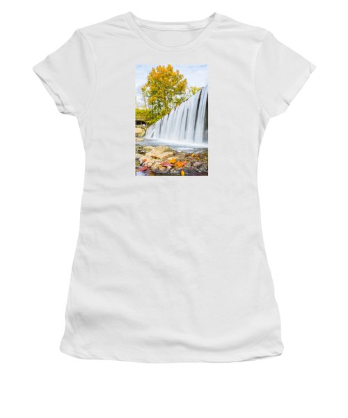 Fall At Buck Creek Women's T-Shirt (Athletic Fit)