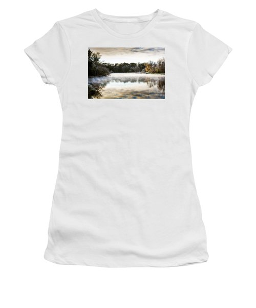 Fall Scene On The Mississippi Women's T-Shirt (Junior Cut) by Cheryl Baxter