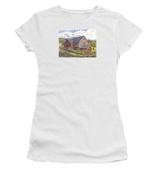 A Scottish Farm  Women's T-Shirt (Junior Cut) by Carol Wisniewski