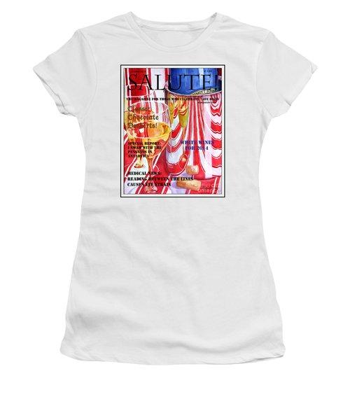 Faux Magazine Cover Women's T-Shirt (Junior Cut) by Mariarosa Rockefeller