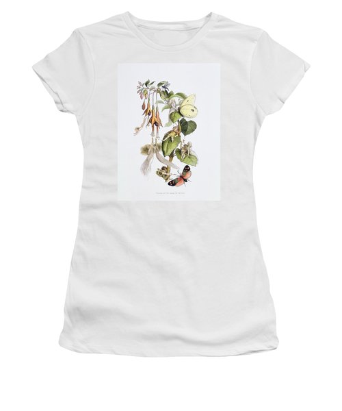 Feasting And Fun Among The Fuschias Women's T-Shirt (Athletic Fit)