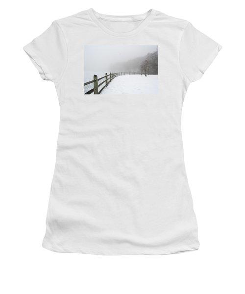 Fence In Fog Women's T-Shirt