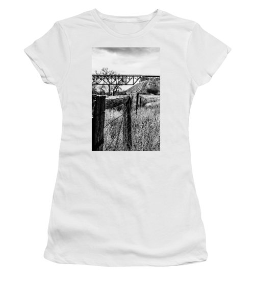 Fence Line Women's T-Shirt (Athletic Fit)