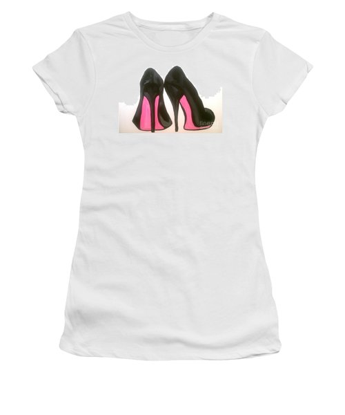 Women's T-Shirt (Junior Cut) featuring the painting Fierce by Marisela Mungia