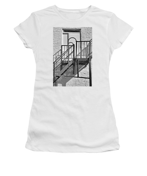 Fire Escape In Black And White Women's T-Shirt