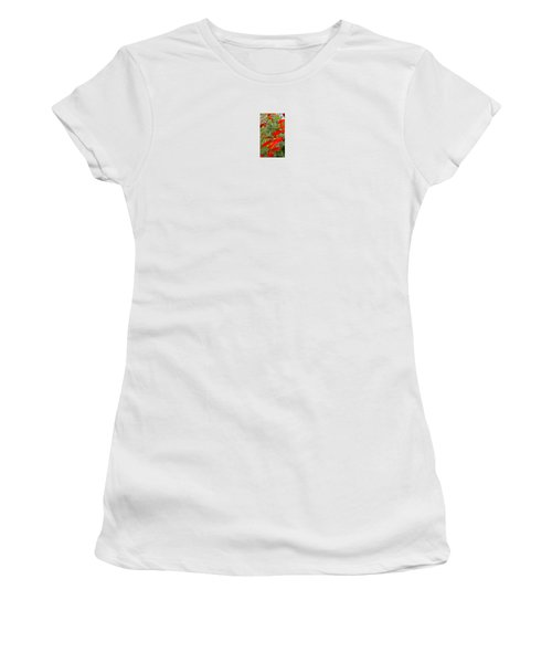 Fire Flowers Women's T-Shirt (Athletic Fit)