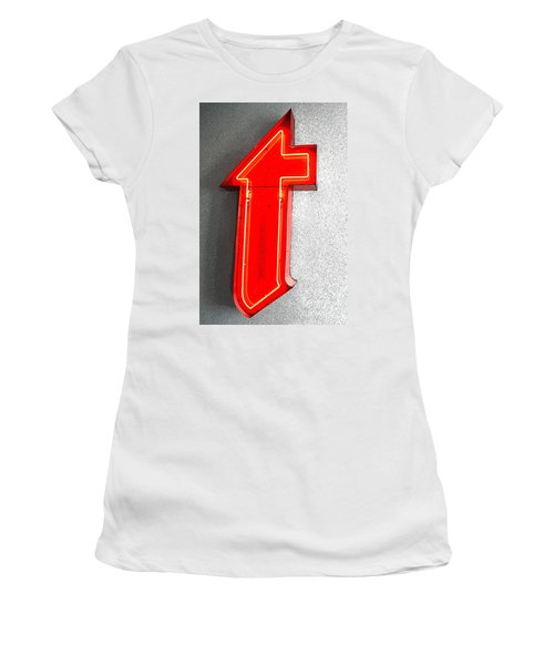 Firestone Building Red Neon T Women's T-Shirt (Junior Cut) by Catherine Sherman