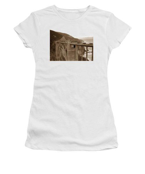 First Cars Across Bixby Creek  Bridge Big Sur California  Nov. 1932 Women's T-Shirt