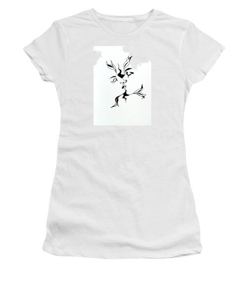 First Kiss Women's T-Shirt (Junior Cut) by Yelena Tylkina