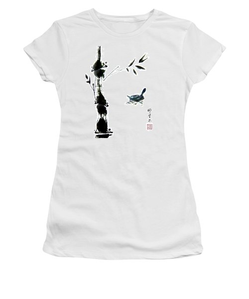 Women's T-Shirt (Junior Cut) featuring the painting First Reflection by Bill Searle