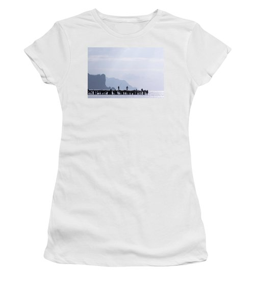 Fisherman At The Pier Women's T-Shirt (Athletic Fit)