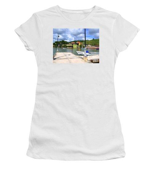 Fishing Village Puerto Rico Women's T-Shirt (Athletic Fit)
