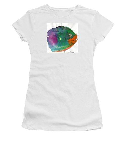 Fishy Women's T-Shirt (Junior Cut) by Joan Hartenstein