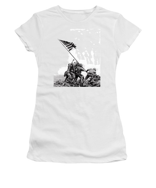 Flag Raising At Iwo Jima Women's T-Shirt (Athletic Fit)