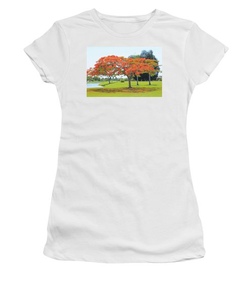 Flame Tree Women's T-Shirt (Athletic Fit)