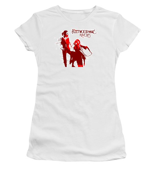 Women's T-Shirt featuring the digital art Fleetwood Mac Rumours by Dan Sproul