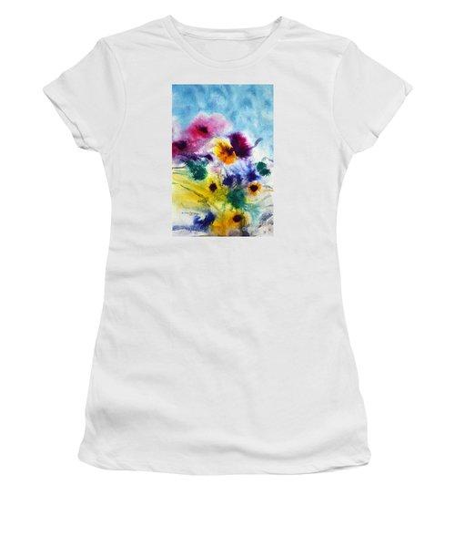 Fleurs Women's T-Shirt (Junior Cut) by Joan Hartenstein