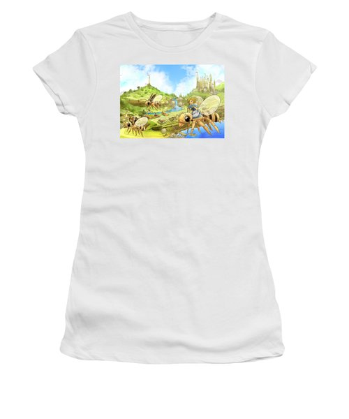 Flight Over Capira Women's T-Shirt (Junior Cut) by Reynold Jay