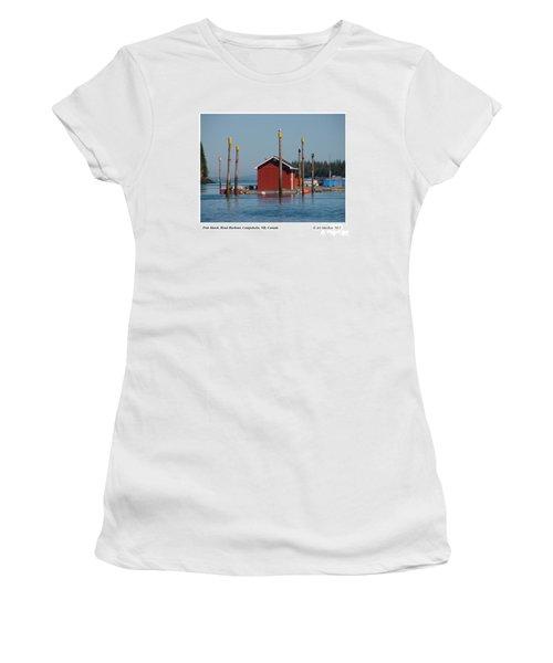 Floating Fish Shack Bay Of Fundy Nb Women's T-Shirt