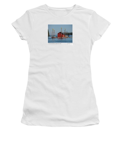 Floating Fish Shack Bay Of Fundy Nb Women's T-Shirt