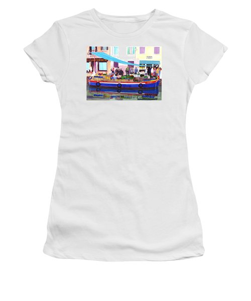 Floating Grocery Store Women's T-Shirt (Junior Cut) by Mike Robles
