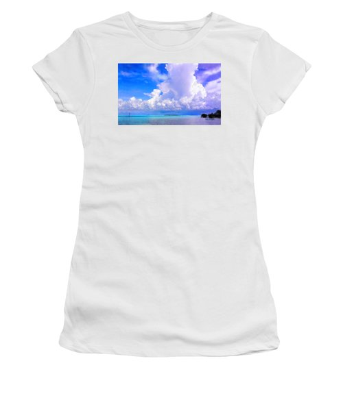 Florida Bay At Shell Pass Filtered Women's T-Shirt