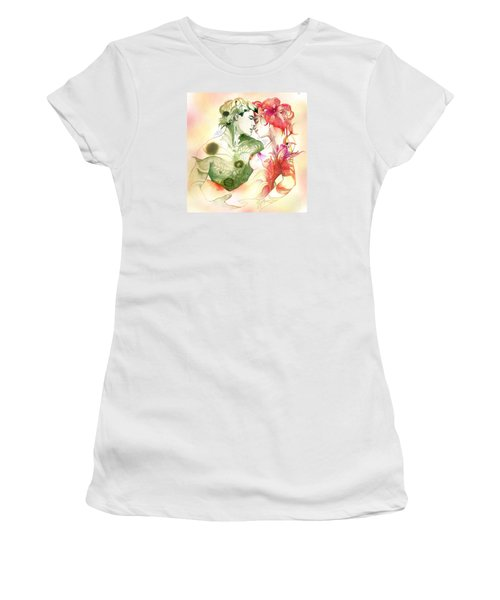 Flower And Leaf Women's T-Shirt (Athletic Fit)