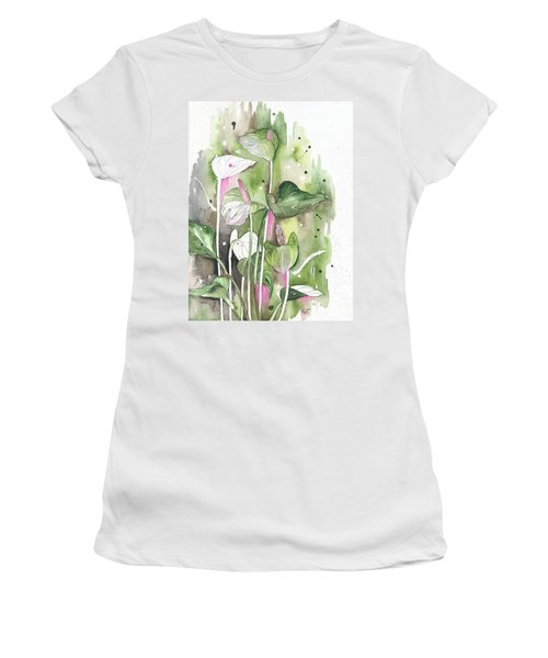 Flower Anthurium 04 Elena Yakubovich Women's T-Shirt (Athletic Fit)