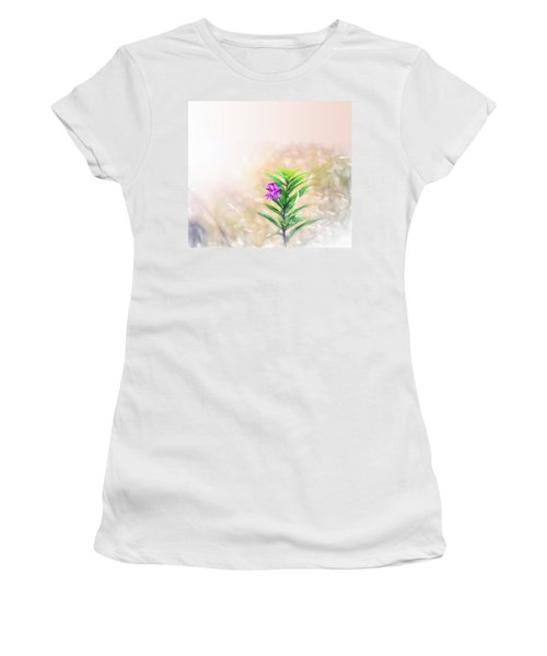 Flower In Watercolor Duvet Women's T-Shirt (Athletic Fit)