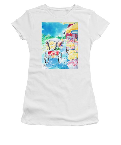 Flower Market  In Chiang Mai Women's T-Shirt