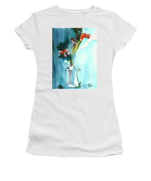 Flowers In Vase Women's T-Shirt (Junior Cut) by Anil Nene