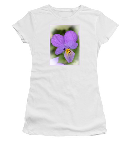 Flowers That Smile Women's T-Shirt (Junior Cut) by Kerri Farley