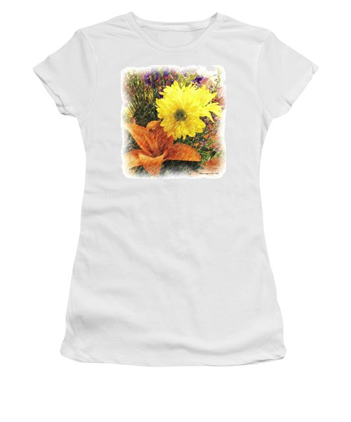 Women's T-Shirt (Junior Cut) featuring the photograph Flowers With Love by Luther Fine Art