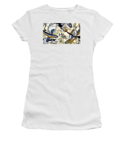 Flying Fish No. 3 - Study No. 2 Women's T-Shirt (Athletic Fit)