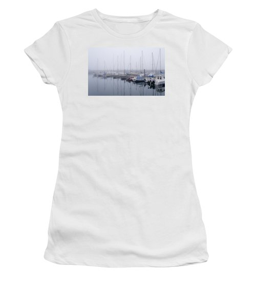 Fog In Marina I Women's T-Shirt