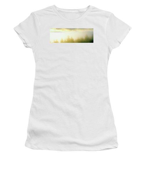 Fog Over Trees, Grasshopper Peak Women's T-Shirt (Athletic Fit)