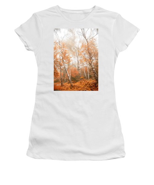 Foggy Autumn Aspens Women's T-Shirt (Athletic Fit)