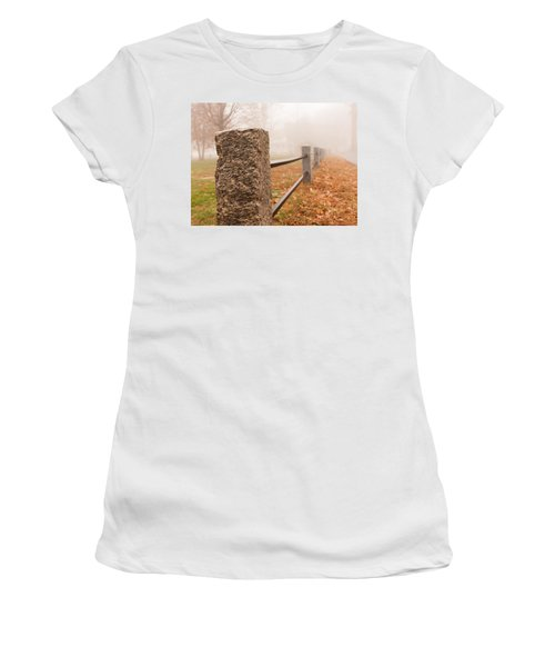 Foggy Morning In Ellington Women's T-Shirt