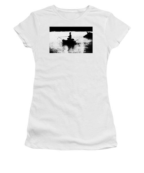 Foggy River Dawn Women's T-Shirt
